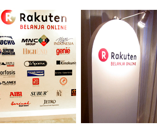 Event Pedestal and Back drop (Rakuten Belanja Online / Indonesia)