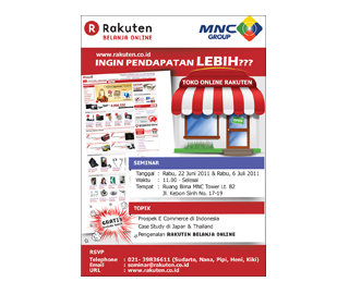 New Merchants Promotion Ad (Rakuten Belanja Online / Indonesia)