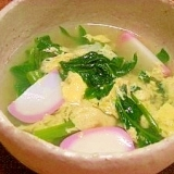 空芯菜と卵のスープ