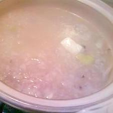 しっかり塩味!〆もおいしい鶏鍋ぞうすい