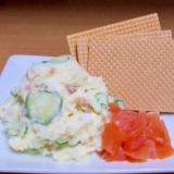 定番!クリーミーなポテトサラダ+大麦クラッカー