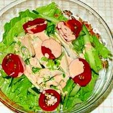 グリーンレタスのサラダ