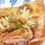 ロシアボルヒチ風 鶏肉とキャベツのトマトジュース煮