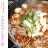 牡蠣をプラスすると、もっと美味しい!豚キムチ鍋!