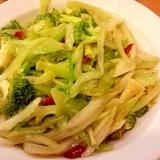 セロリとブロッコリーの炒め物