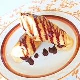 まるごとバナナクレープ~チョコレートソースがけ