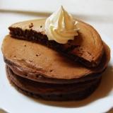 チョコがとろ~り♪ふわふわココアホットケーキ