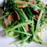 モリモリ食べれる☆水菜のマヨガーリック炒め