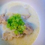 イソフラボンで美肌効果♪カブと鶏の豆乳スープ