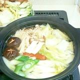 白だしでおいしい水炊き風鍋