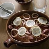 いかとレモンのライス☆オーブン皿で♪