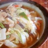 醤油スープの海鮮チャンポン