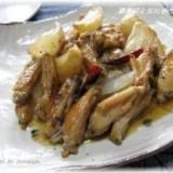 鶏肉と玉ねぎのピリ辛炒め