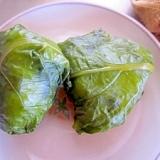 冷ご飯でW野沢菜漬けのおむすび
