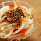 チアシードでポン酢ジュレ☆新玉ねぎのサラダ