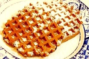 朝食にもおやつにも、ブルーベリーのモカノワッフル