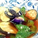 めんつゆで簡単!美味しい!! 夏野菜の揚げびたし♪