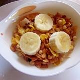 ダイエッターの朝食に~グラノーラとバナナ豆乳
