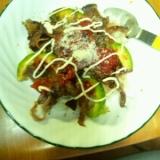 牛肉とアボカドのトマトソースご飯