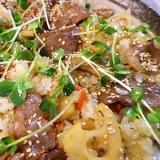 牛カルビレンコン椎茸ご飯