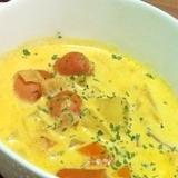 かぼちゃとウインナーのミルクスープ