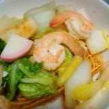 海鮮と白菜の皿うどん