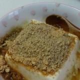 ヘルシーおやつ♪はちみつきなこ豆腐