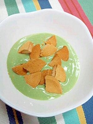 抹茶菓子風☆青汁&豆乳おからクッキーヨーグルト♪