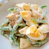 インゲンとツナたまごのサラダ