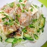 豆腐としらすキャベツの和風サラダ