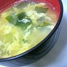 中華風ねぎスープ 卵とわかめ入り