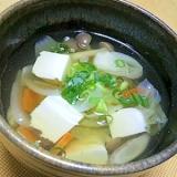 簡単!野菜たっぷり和風スープ☆