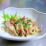 エノキと水菜の炒め物
