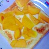 簡単美味しい☆柿トースト♪