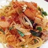 タイ料理♪焼きそば麺deパッタイ風