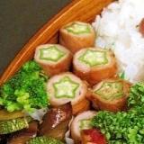 お弁当レシピ★オクラの肉巻き