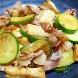 豚肉、ズッキーニ、エリンギのオイマヨ炒め