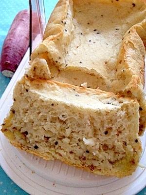 ホームベーカリーでごまさつまいもご飯食パン♪