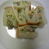 きゅうり・チーズのサンドイッチ