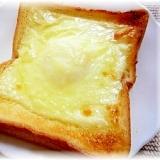 ♪♪フライパンいらず!目玉焼きチーズトースト♪♪