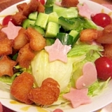子供と作る かわいいサラダ