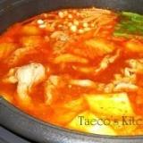 ♪キムチ鍋+オリジナル坦坦麺♪
