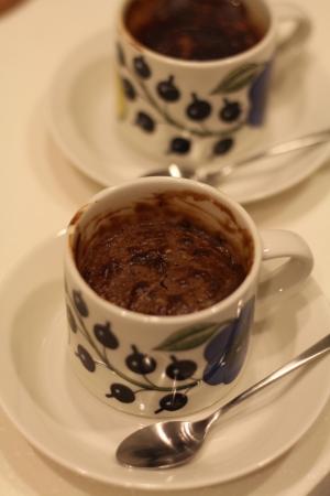 マグカップで フォンダンショコラ