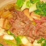 白菜と豆腐が旨い☆すき焼き煮