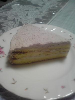 ココア生クリームバースデーケーキ