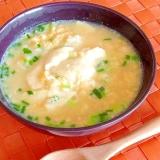 豆腐入り味噌味のたまご雑炊