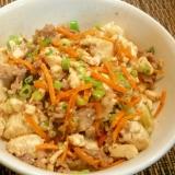 牛肉と豆腐の炒り付け