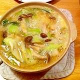 カワハギ肝味噌なべ