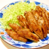 鶏手羽中のトースター焼き(七味醤油味)