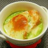 玉ねぎたっぷり♪ほうれん草スープグラタン